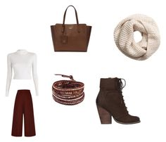 """""""Winter Walk"""" by laurel-grissom ❤ liked on Polyvore featuring Max Studio, Chan Luu, H&M, A.L.C., Gucci and Proenza Schouler"""