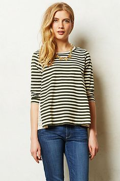 Laced Lines Top from Anthropologie, casual style for spring! #anthro #saddlecreek