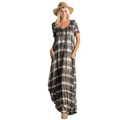 Now available @ www.fashionenation.com : Flowy short sleev...  Check it out here http://www.fashionenation.com/products/flowy-short-sleeve-tie-dye-maxi-dress-with-unbalanced-hem-and-pockets?utm_campaign=social_autopilot&utm_source=pin&utm_medium=pin