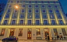 This grand old lady from 1928 has been completely renovated and features classic Scandinavian interiors. Scandinavian Interiors, Architecture Old, Grand Hotel, Bergen, Norway, Multi Story Building, Mansions, House Styles, Lady