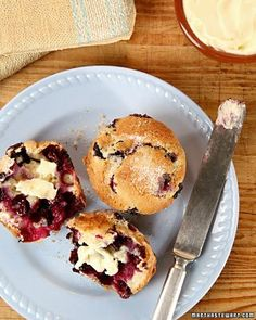 This used to be my favorite when I was little... Blueberry Muffins with butter...