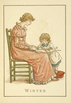 Image Title:  Winter.1894 Creator: Greenaway, Kate, 1846-1901 -- Artist Source: Almanack for .... / Kate Greenaway's almanack for 1895.
