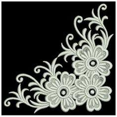 White Work Elegance 11(Lg) machine embroidery designs
