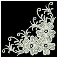 White Work Elegance 11(Lg) machine embroidery designs