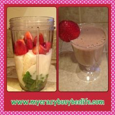 Idea #18...Before school strawberry banana spinach smoothie for the kids that will start their day off right from Crazy Busy Bee.  Fun and simple crafts, recipes and ideas on how to connect and develop stronger relationships with your children without spending a lot of money.