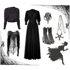 """""""Dark Mori Witch #1"""" by grimoire-grotto on Polyvore I just love the dress! I have to sew it ~"""