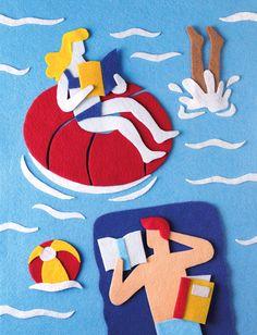 Felt Collage by Jacopo Rosati