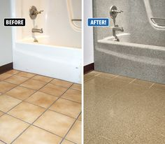 Miracle Method Surface Refinishing is extremely durable and works even on high traffic areas like tile floors. There is a fantastic color selection to suit every taste. www.miraclemethod.com