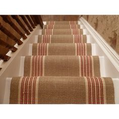 Decorating: Sisal Stair Runners Ideas For Decoration Everything In Modern Home Ideas Sisal Stair Runner, Stair Rugs, Stair Runners, Rug Runners, Hallway Carpet Runners, Stair Treads, Banisters, Staircase Design, Rugs