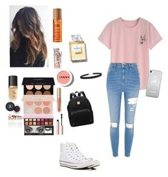 """""""🌤"""" by graycerose on Polyvore featuring Converse, Too Faced Cosmetics, Anastasia Beverly Hills, Guerriero, Huda Beauty, LORAC, Soap & Glory, Humble Chic, Alterna and River Island"""