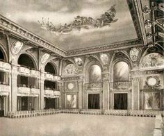 The original Waldorf Hotel's - Grand Ballroom, NYC. The location of the Bradley-Martin Ball, that was held in c.1897, for NYC's Gilded Age high society members. ~ {cwl} ~ (Image: halfpuddinghalfsauce - blog)