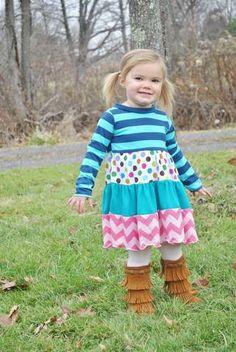 Keria's Girls Boutique Knit Dress PDF Pattern