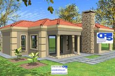 with complete details Tuscan House Plans, My House Plans, Duplex House Plans, Small House Plans, Modern Tiny House, Modern House Plans, Double Story House, 2 Bedroom House Plans, Modern Ranch