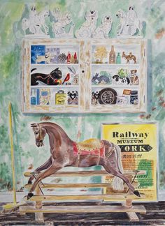 """Rocking Horse"" by Emily Sutton, 2015 (watercolour)"