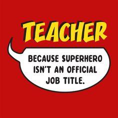 Because Superhero Isn't A Job Title T-Shirt - $6.99. https://www.tanga.com/deals/a3a97766d44e/because-superhero-isn-t-a-job-title-t-shirt
