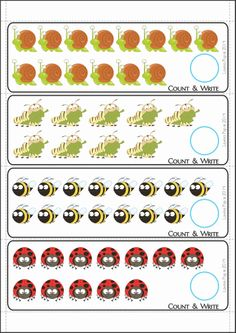 Spring Math Centers for Kindergarten. Count and wripe. Kindergarten Math Activities, Educational Activities, Maths, First Grade Math, Grade 1, 1st Grade Worksheets, Guided Math, Common Core Math, School