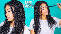 How to: mini twists - curly natural hair [video] read the article here Natural Hair Twists, Long Natural Hair, Natural Hair Growth, Au Natural, Natural Beauty, Hair Styles 2016, Curly Hair Styles, Natural Hair Styles, Twist Curls