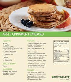 NUTRILITE: Apple Cinnamon Flapjacks made from Nutrilite All Plant Protein Powder.