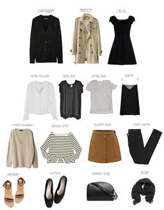 CAPSULE WARDROBE-the basics (Sea of Shoes)