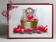 Just playing with some basic color blending using Chameleon Pens - they're great for getting into the small areas of these detailed House Mouse stamps with a great blend and gradient. This is the newest addition to my collection of Stampa Rosa classics.  Sweet Cherries card by Dina Kowal. Read more: http://www.splitcoaststampers.com/gallery/photo/2617976#ixzz3VPF2CFiL.