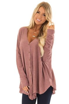 Red Bean Waffle Knit Button Up Long Sleeve Top front close up Long Sleeve Tops, Long Sleeve Shirts, Henley Shirts, Women's Henley, Pop Culture Halloween Costume, Cute Boutiques, Tc Leggings, Capsule Wardrobe, Doll Wardrobe