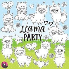 80% OFF SALE Alpaca Stamps, stamps commercial use, vector graphics, digital clip art, llama digital images - DS1087 by Prettygrafikdesign on Etsy