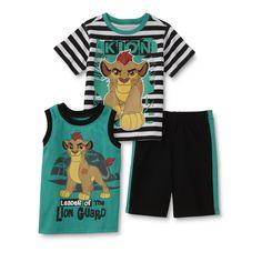Disney Baby The Lion Guard Toddler Boys' T-Shirt, Tank Top & Shorts - Striped, Toddler Boy's, Size: 4T