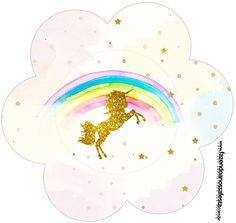 Fiesta de Unicornios: Wrappers y Toppers para Cupcakes para Imprimir Gratis.