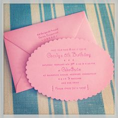 bubblegum pink letterpress invitation