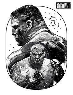 Mark Hunt vs. Brock Lesnar, UFC 200, Artwork by Gian Galang