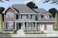 Eplans Colonial House Plan - Second-Floor Master Suite - 2686 Square Feet and 4 Bedrooms(s) from Eplans - House Plan Code HWEPL11250