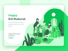 Happy Eid Mubarak ------------------------ May Allah shower countless blessing upon You and Your Family Taqobalallahu minna waminkum  Follow me on Behance   Instagram   Twitter