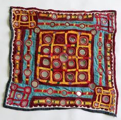 Gypsy Banjara Tribe Mirrored Patch. Vintage by coloursofspirit