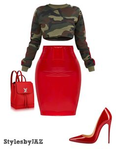 """"" by harrisjazmin on Polyvore featuring Christian Louboutin"