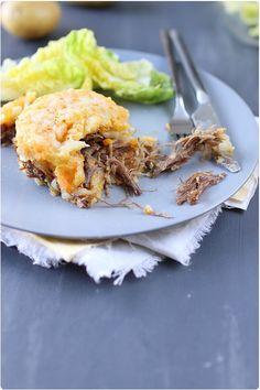 Parmentier pomme de terre / carotte de canard confit
