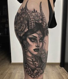 Pretty Tattoos, Sexy Tattoos, Black Tattoos, Body Art Tattoos, Sleeve Tattoos, Witch Tattoo, Demon Tattoo, Alien Tattoo, Zombie Girl Tattoos