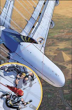 Hawkeye and Black Widow by Arthur Adams