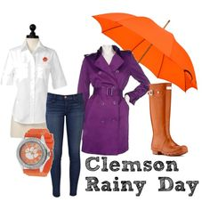 Gameday Fashion for Her - Clemson Rainy Day Attire