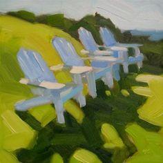 """Adirondacks"" - Original Fine Art for Sale - © Michael Chamberlain"