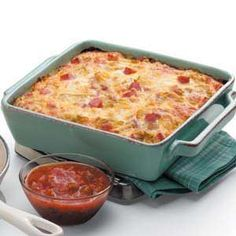 Overnight Egg Casserole Recipe from Taste of Home -- Putting it together the night before really frees up your time the next morning. Shared by Jennifer Howell of Fort Collins, Colorado.