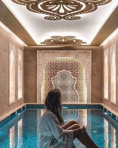 The best design for turkish bath and spa what is your İdea ? The best design f Morrocan House, Morrocan Decor, Moroccan Bathroom, Spa Bathroom Design, Bathroom Spa, Bath Design, Bathroom Ideas, Home Design, Turkish Bath House