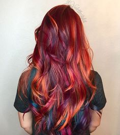 Trending this week on Instagram: fiery reds. We love that clients are taking a risk with this vibrant color. The ombrè…