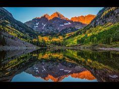 Autumn Canvas Photo Print, Maroon Bells Fall Photograph, Vivid Mountain… - Mountains and Wilderness Home Decor - Best Tattoo Ideas Americana Home Decor, Photo Print, Photo Canvas, Michel, Fine Art Photography, Background Images, Wilderness, Fine Art Prints, Sunrise