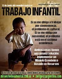 Cartel de concienciación sobre la explotación infantil dirigido principalmente a las víctimas que lo sufren