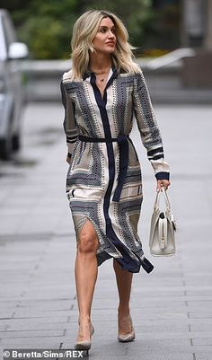 Ashley Roberts, Pussycat Dolls, Silk Midi Dress, Thighs, Wrap Dress, Costumes, Chic, Mail Online, Daily Mail