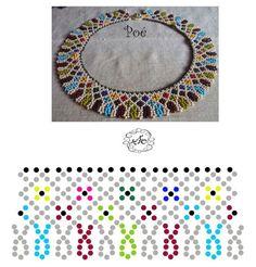 Photo Diy Necklace Patterns, Beaded Jewelry Patterns, Beading Patterns Free, Beading Tutorials, Bead Crafts, Jewelry Crafts, Handmade Beads, Loom Beading, Bead Art
