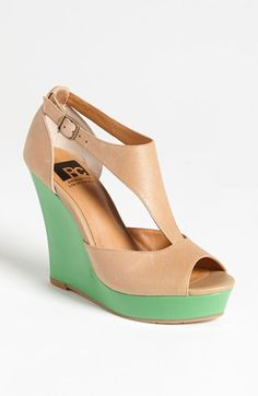 wedges with a mint accent