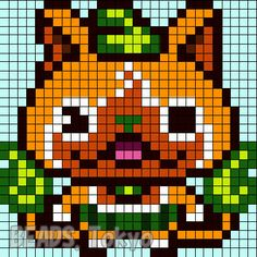 39 Best All Yokai Watch Images Pixel Art Beading Patterns