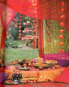 boho tent picnic party