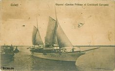 "Vaporul Carolus Primus al Comisiei Europene, Galati, Romania, anul 1927. Imagine din colecțiile Bibliotecii Jedețene ""V.A. Urechia"" Galați. Ships, Pictures, Painting, Art, Romania, Photos, Art Background, Boats, Boating"